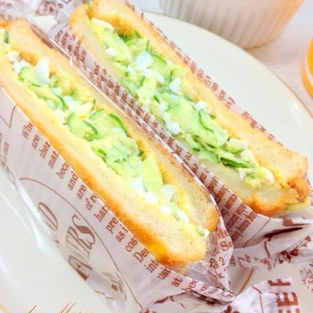 卵ときゅうりのサンドイッチ