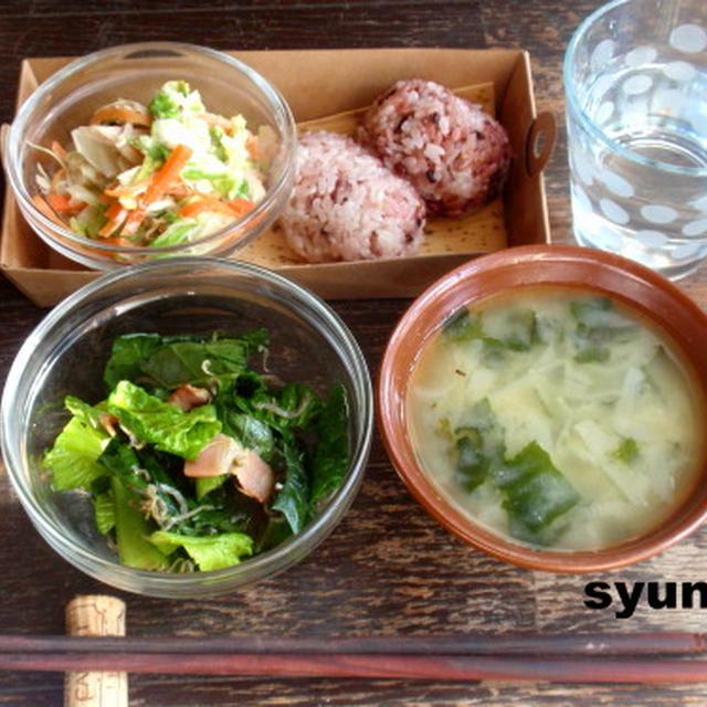 【2種類のサラダで簡単カフェごはん】白菜とささみのゴママヨサラダ*小松菜とじゃこベーコンのサラダ