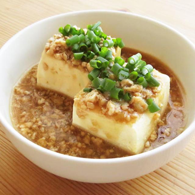 あともう一品に鶏そぼろのあんかけ豆腐