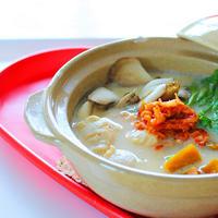【簡単レシピ】キムチ豆乳シャンタン鍋 とんこつ風☆