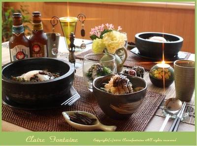 挽肉と茄子の石焼きカレー