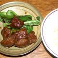 合挽き肉の焼肉