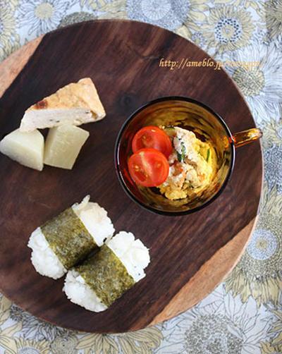 おからたっぷりポテサラ朝食とカシュカシュカフェ♪