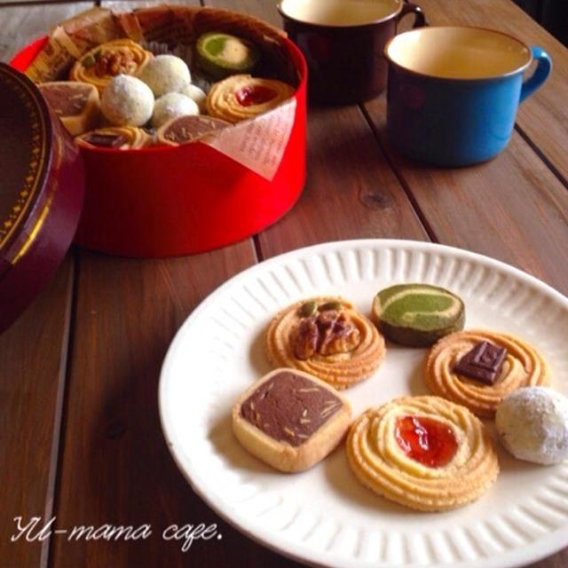 アイスボックスクッキー ★パリパリ♡アーモンドココアクッキー 抹茶&バニラクッキー♪お知らせ