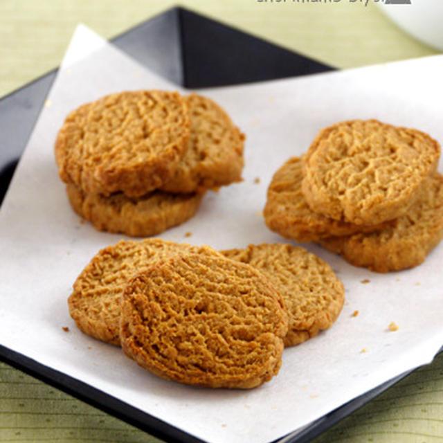 """豆腐クッキー。&ver.きなこ。""""バター・卵・水分なし"""""""
