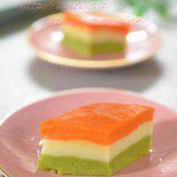 我が家のひな祭り✿大好評の菱餅風~野菜&豆乳ごま豆腐☆