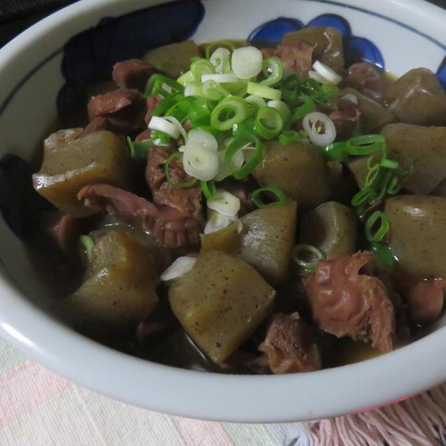 柚子胡椒風、砂肝の煮物♪