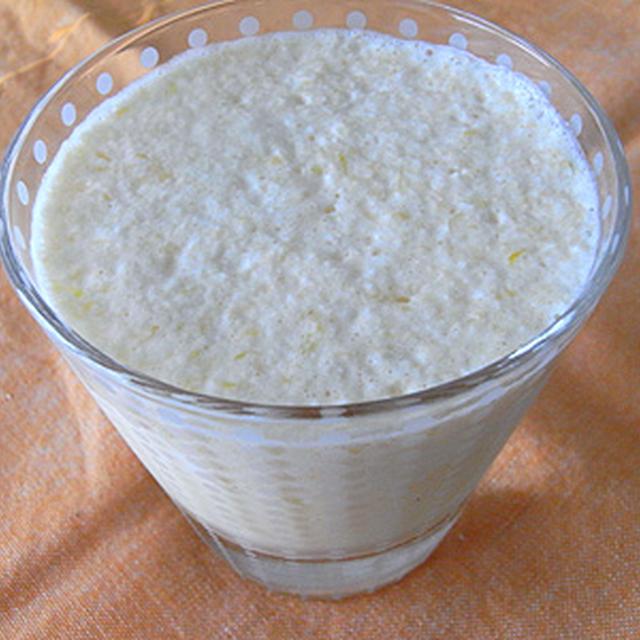 甘平+りんご+牛乳のフレッシュジュース