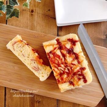 【レンチン4分30秒でふわふわ】朝食やおやつにぴったり*甘くないお惣菜ケーキ