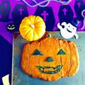 超BIG!超ヘルシー!超簡単!ジャック・オ・ランタン養生クッキー♪〈かぼちゃ入り〉ハロウィン