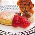 乾物でイタリアン1 ― 餅パンケーキのティラミス風クリーム 雑穀チュイル添え