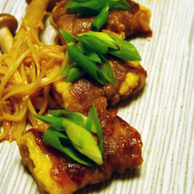 凍らせ豆腐の肉巻きすき焼き風:寒さにもマケズ…