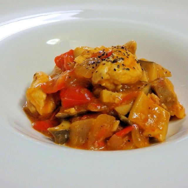 クローブ香る鶏むね肉の塩麹トマト煮