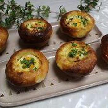 マフイン型で焼く総菜パン
