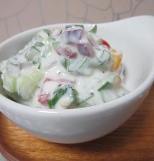 レモン風味のライタ(ヨーグルトサラダ)