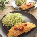【うす塩そぼろ】×野菜のオムレツ