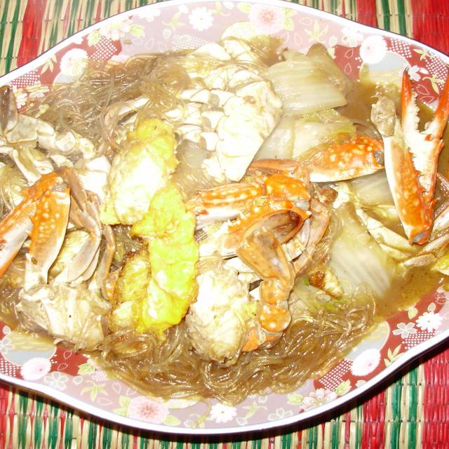 渡り蟹の中華風炒め煮