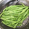 さやいんげんのレモン&ガーリック炒め Fried Green Bean with Lemon Butter and Garlic
