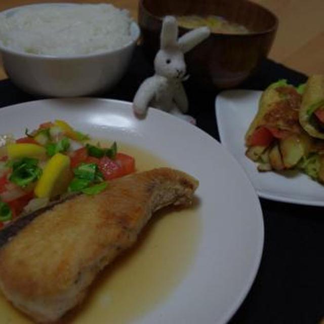 ブリと野菜のサッパリソース☆