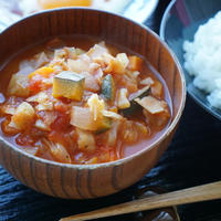 ご飯と一緒に♡和風ミネストローネde一汁一菜な朝食