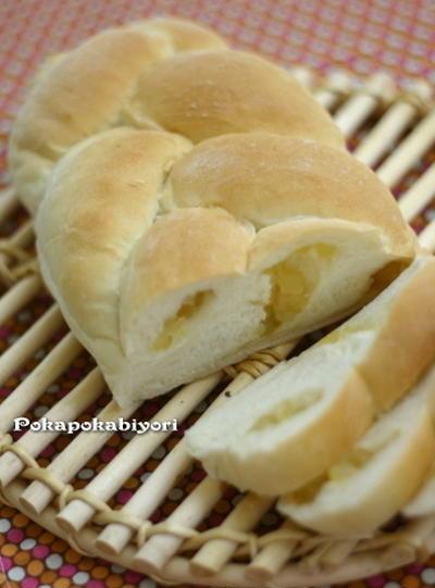 型なし・三つ編みパン