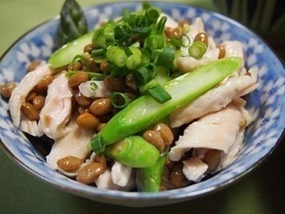 くらしのアンテナで掲載【鶏ササミとアスパラの納豆和え】&北海道地震
