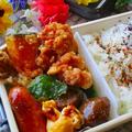春のお弁当レシピコンテスト受賞♡レシピあり/我が家自慢の鶏むね肉から揚げ弁当♪