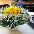 鉢物と切り花を使って・・・