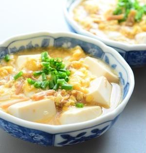 なめ茸と豆腐の卵とじ