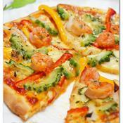 海老とゴーヤのスタミナピザ