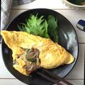 モランボン『韓の食菜〜塩チャプチェ〜』を使ってオムレツ*簡単