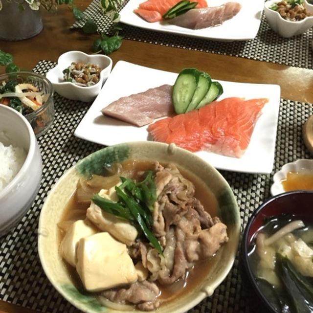 ホッとする美味しさ肉豆腐de試合後の献立…これから!