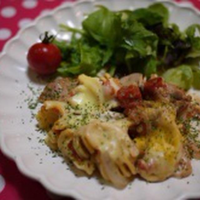 ルクエでチキンとパスタのトマト煮&【掲載2件】