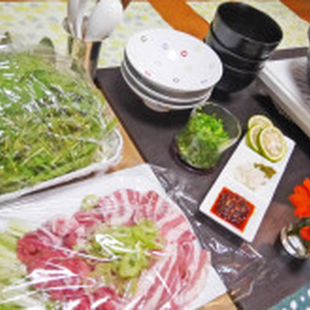 BRITAのお水で野菜だしの豚バラ水菜鍋