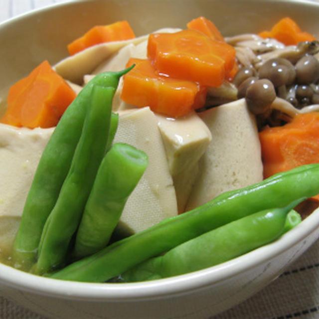 高野豆腐のあんかけ含め煮(レシピ)