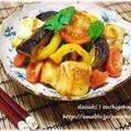 【宮殿焼き肉のたれ おろし×おろし】揚げ餅と夏野菜のおろしあえ