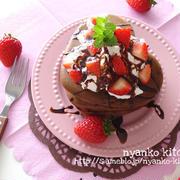 バレンタインの朝食に♪「チョコパンケーキ」のおすすめレシピ