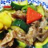 夏野菜とパイナップルのハニーマスタード炒め