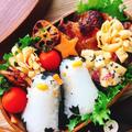 【キャラ弁】照り焼きチキンとペンギンおにぎり by Misuzuさん