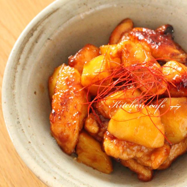 秘密のやわらか鶏ささみポテトの照り焼き