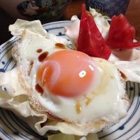 朝マスク&目玉焼き(笑