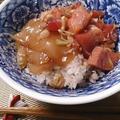 【雑穀アレンジレシピ】しょうがとみょうがたっぷり、雑穀ご飯の薬味漬け丼