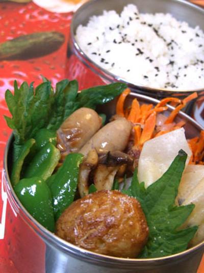 美味しさupのお弁当箱で『人参お肉マキマキ』お弁当♪