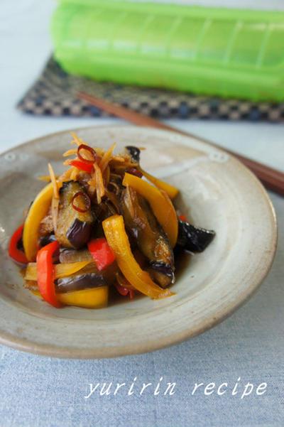 茄子の甘辛生姜煮