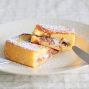 チョコ&チーズのフレンチトースト
