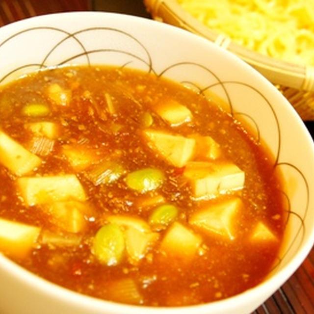 夏の新いけ麺、冷やしベジ麻婆豆腐つけ麺はピリ辛味でビールも進みます