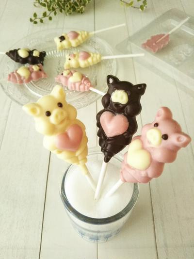 ブタさんのロリポップチョコレート By Anさん レシピブログ 料理