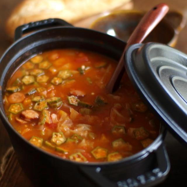 ガンボ風スープ。