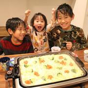 ホットプレートで明太もちチーズグラタンを作ろう!!