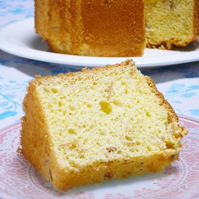 アーモンドシフォンケーキのつくりかた